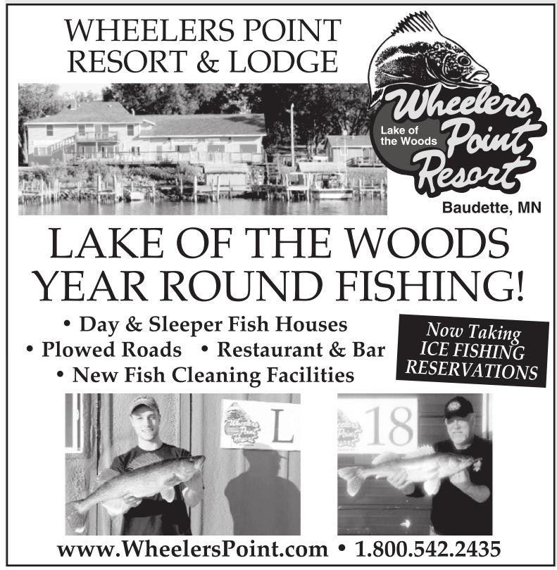 Lake of the woods year round fishing wheelers point for Lake of the woods fishing resorts