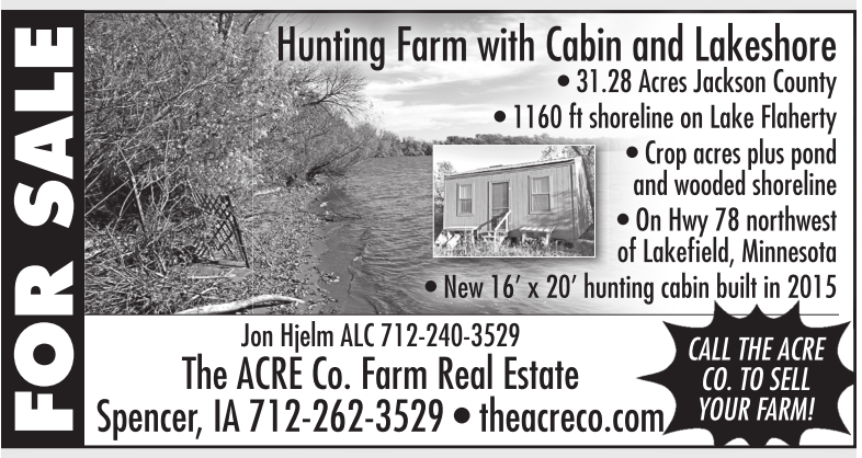 Hunting Farm With Cabin And Lakeshore The Acre Company Spencer IA