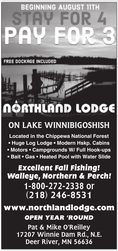 stay for 4 pay for 3 northland lodge deer river mn
