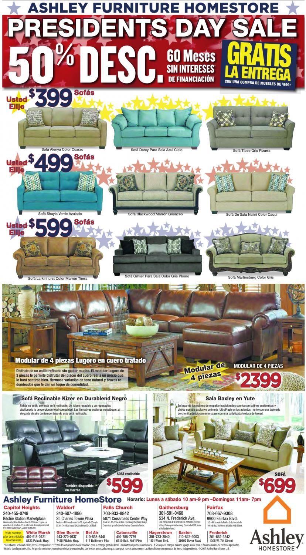 Presidents Day Sale, Ashley Furniture Homestore, Frederick, MD