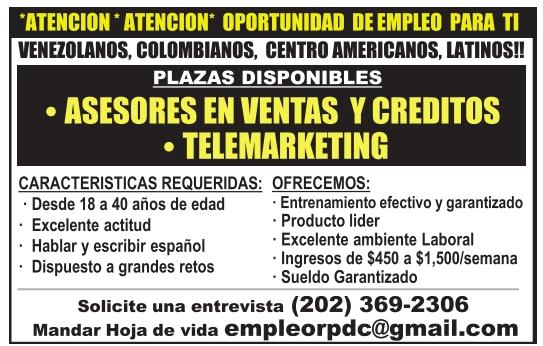 Atencion* Oportunidad de empleo para ti, Empleo RPDC