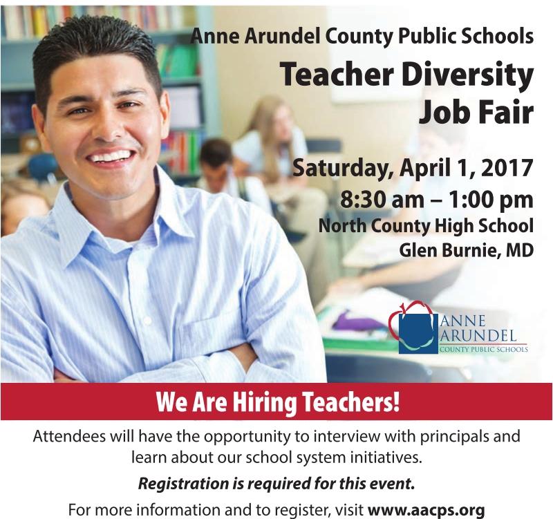 Science Teacher Job Facts: Teacher Diversity Job Fair, Anne Arundel County Public