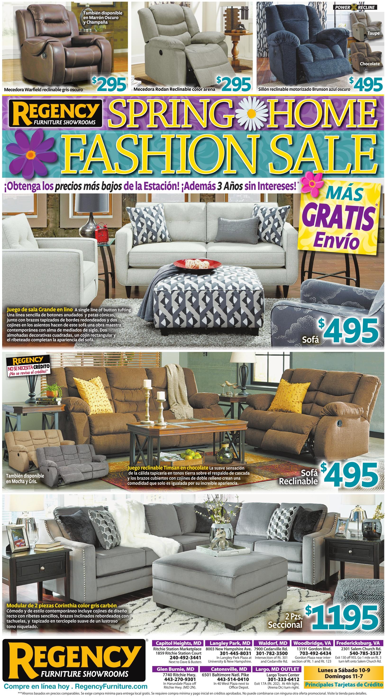 Spring Home Fashion Sale, Regency Furniture Showrooms, Glen Burnie, MD