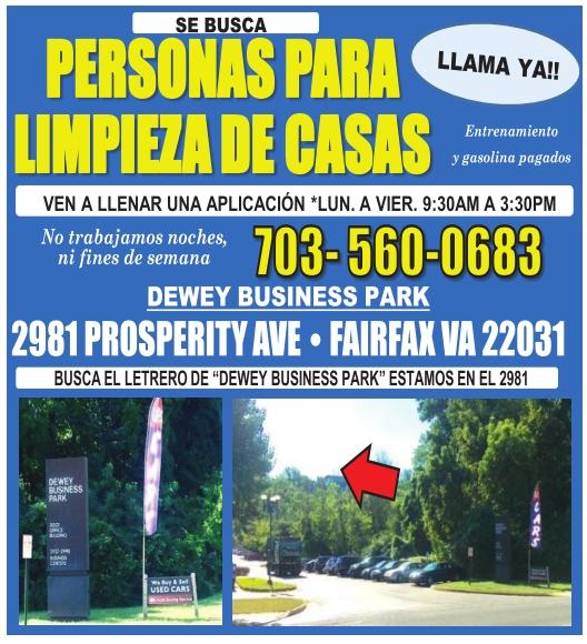 Personas para limpieza de casas 703 560 0683 for Anuncios de limpieza