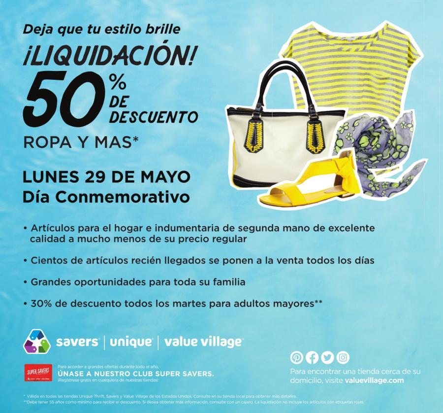 Liquidacion!! 50% de Descuento, Value Village