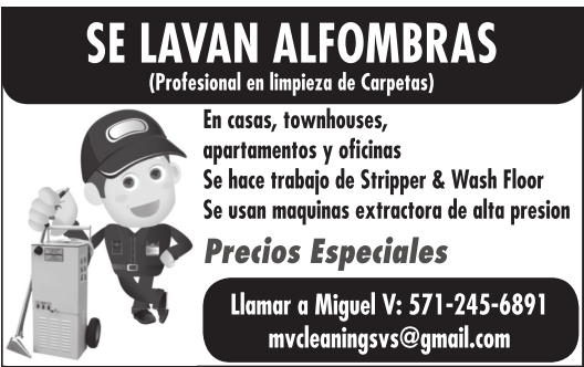 Se Lavan Alfombras, mvcleaningsvs@gmail.com