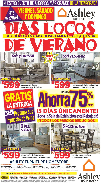 dias locos de verano ashley furniture homestore frederick md. Black Bedroom Furniture Sets. Home Design Ideas