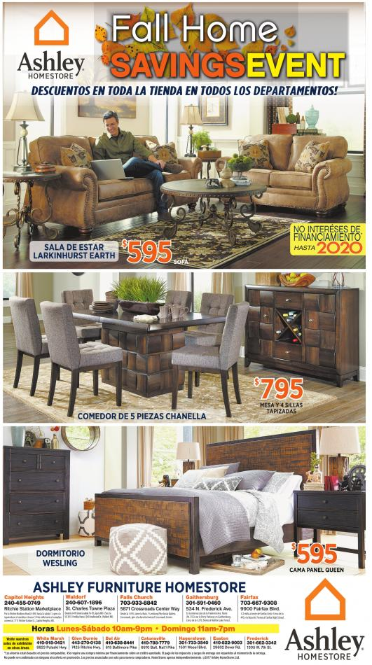 fall home savings event ashley furniture homestore frederick md. Black Bedroom Furniture Sets. Home Design Ideas