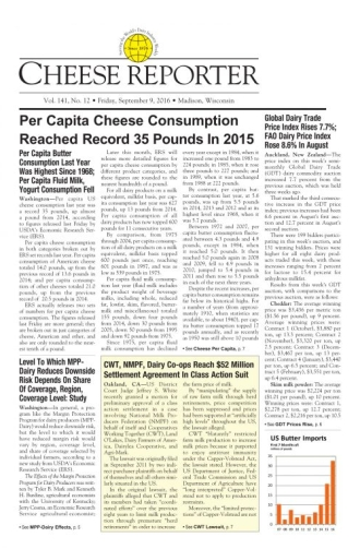 CWT, NMPF, Dairy Co-ops Reach $52 Million Settlement